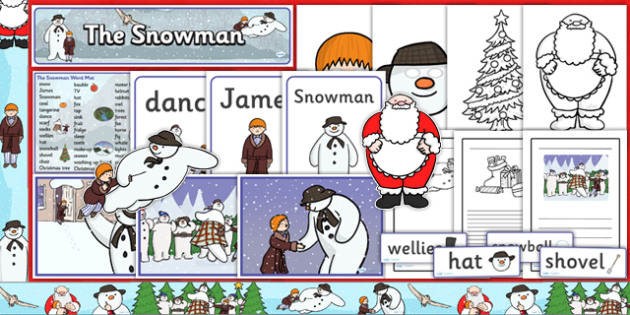 Resource Pack to Support Teaching on The Snowman - snowman, christmas, pack, xmas