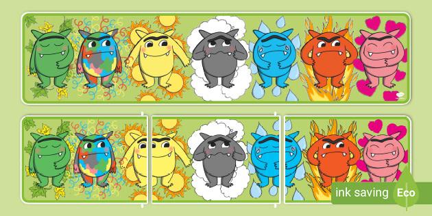 The Feelings Monster Editable Display Banner Teacher Made