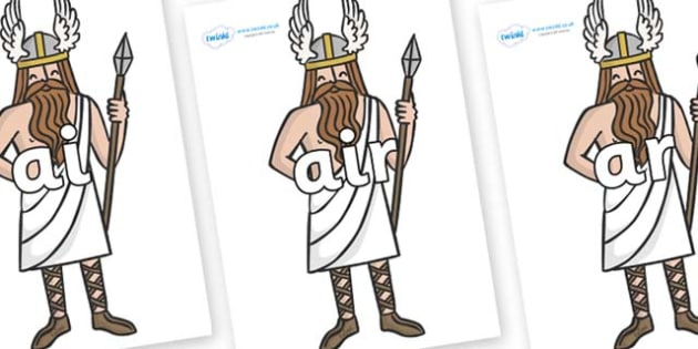 Phase 3 Phonemes on Viking Gods - Phonemes, phoneme, Phase 3, Phase three, Foundation, Literacy, Letters and Sounds, DfES, display