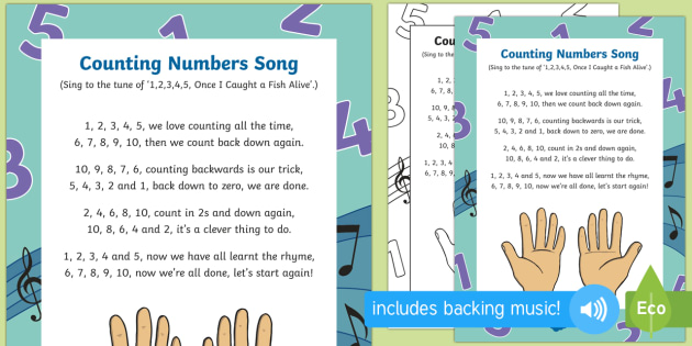 Counting Numbers Song - Singing, song time, maths, numeracy, number