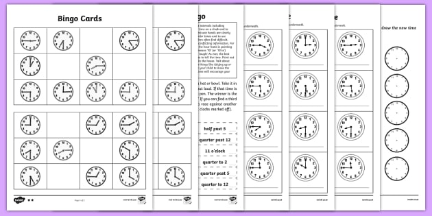 Telling the Time Worksheets - Maths Resources, maths ...