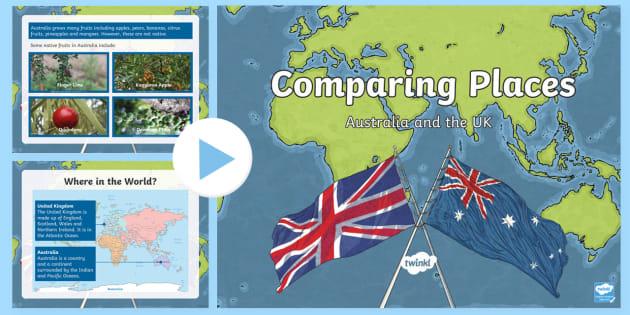 Australia Uk Map Comparison.Comparing Australia And The Uk Powerpoint