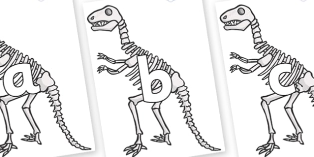 Phoneme Set on Dinosaur Skeletons - Phoneme set, phonemes, phoneme, Letters and Sounds, DfES, display, Phase 1, Phase 2, Phase 3, Phase 5, Foundation, Literacy