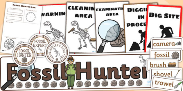 Fossil Hunter Role Play Pack - fossils, role play, history, hunt
