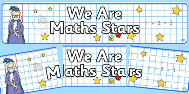 We Are Maths Stars Display Banner - we are, maths stars, display banner, display, banner