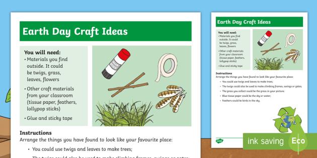 Natural Materials Craft Instructions 22nd April Making Doing