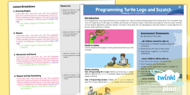 Computing: Programming Turtle Logo and Scratch Year 2 Planning Overview