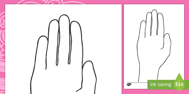 diwali hand outline hand outline template