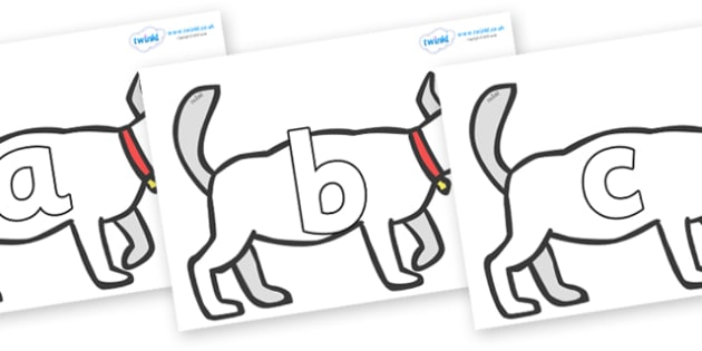 Phoneme Set on White Dog to Support Teaching on Brown Bear, Brown Bear - Phoneme set, phonemes, phoneme, Letters and Sounds, DfES, display, Phase 1, Phase 2, Phase 3, Phase 5, Foundation, Literacy