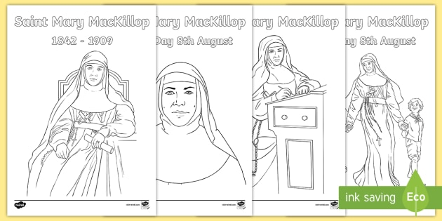 saint mary mackillop colouring pages religion colouring