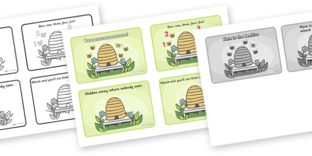 Here is the Beehive Sequencing (4 per A4) - Here is the Beehive, nursery rhyme, sequencing, rhyme, rhyming, nursery rhyme story, nursery rhymes, Here is the Beehive resources