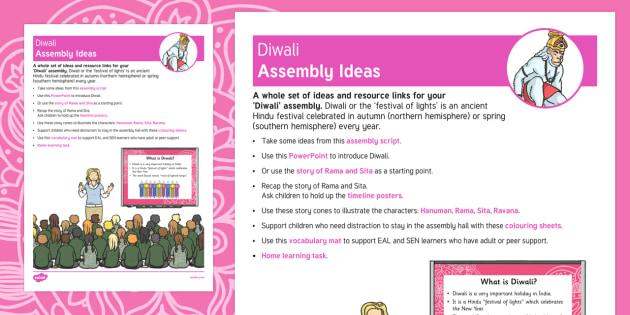 Diwali Assembly Ideas
