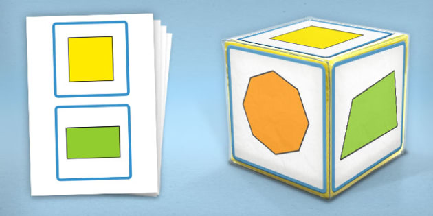 Giant Foam Dice Squares 2D Shapes - foam dice, squares, 2d, shape