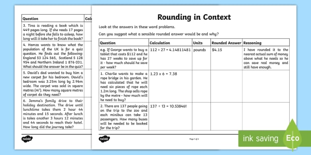 rounding in context worksheet activity sheet year 5 maths. Black Bedroom Furniture Sets. Home Design Ideas