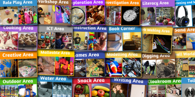 Classroom Area Photo Signs Pack - classroom, area, photo, signs