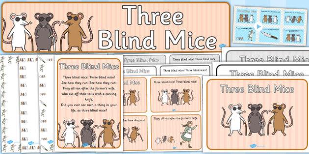 Three Blind Mice Resource Pack - three blind mice, resource pack, pack of resources, themed resource pack, three blind mice pack, resources, nursery rhymes