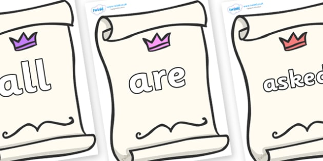 Tricky Words on Invitations - Tricky words, DfES Letters and Sounds, Letters and sounds, display, words