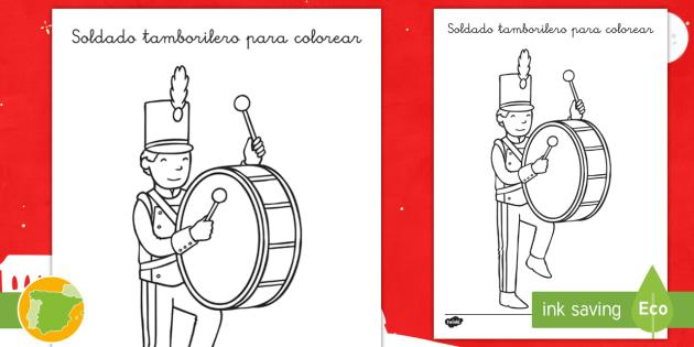 NEW * Hoja de colorear Soldadito tamborilero - Navidad