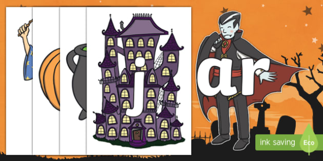 Halloween Themed Phase 3 Sounds Display Cut-Outs