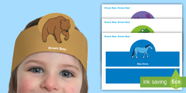 Role Play Headbands Brown Bear to Support Teaching on  Brown Bear - roleplay, props