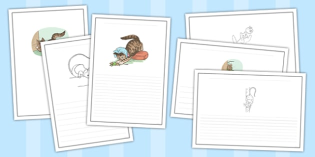 The Story of Miss Moppet Writing Frames - Beatrix Potter, traditional tale, english, book, writing, story, listening, display, showcase, best, ks1, key stage, early years, template, pictures, illustrated