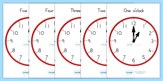 Analogue Clocks Hourly O Clock - clocks, analogue, time, hours