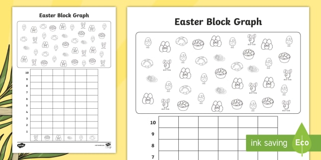 block diagram ks2 easter themed count and graph worksheet / activity sheet