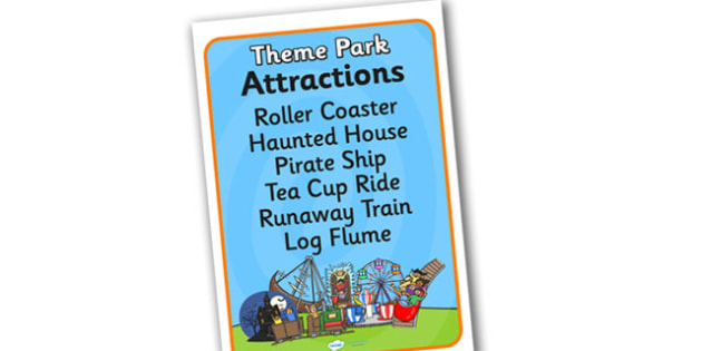 Theme Park Attraction List - theme park, attraction, list, attraction list, theme park attraction list, role play attraction list, theme park role play