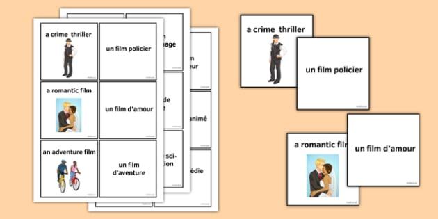 Les genres de filmsJeu de cartes - french, Les genres de films
