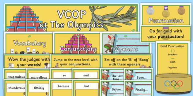 Olympic-Themed VCOP Large Display Cut Out Pack