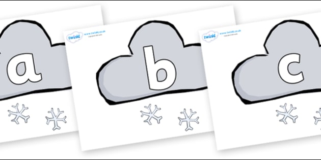 Phoneme Set on Weather Symbols (Snow) - Phoneme set, phonemes, phoneme, Letters and Sounds, DfES, display, Phase 1, Phase 2, Phase 3, Phase 5, Foundation, Literacy