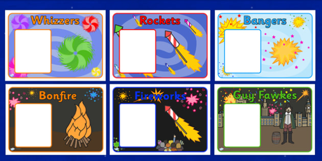 Bonfire Night Fireworks Group Signs - bonfire night, fireworks, group signs, signs, class groups, teaching groups, group labels, signs for groups