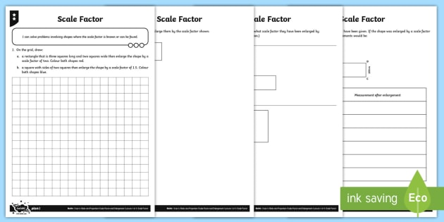 scale factor differentiated worksheet activity sheets ratio. Black Bedroom Furniture Sets. Home Design Ideas