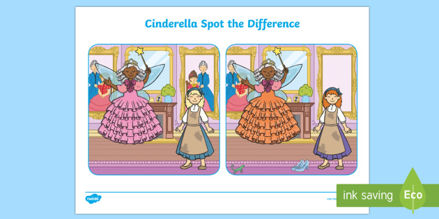 Cinderella Spot the Difference Activity - spot, difference, game