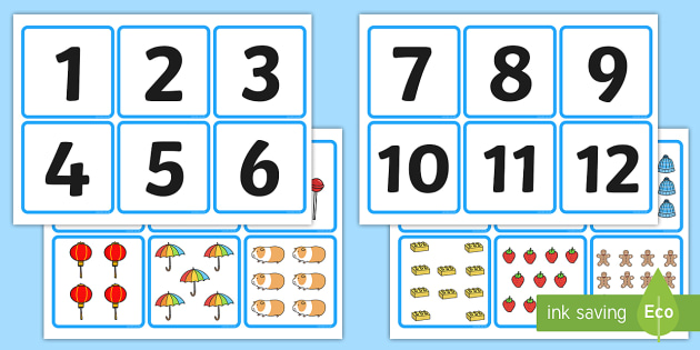 ordering objects and numbers 1 20 cards numeracy numbers subitising matching