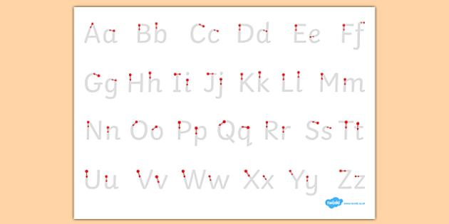 Letter Formation Alphabet Handwriting Sheet Uppercase and Lowercase