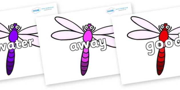 Next 200 Common Words on Dragonflies - Next 200 Common Words on  - DfES Letters and Sounds, Letters and Sounds, Letters and sounds words, Common words, 200 common words
