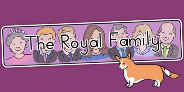 The Royal Family Display Banner - royality, queen elizabeth