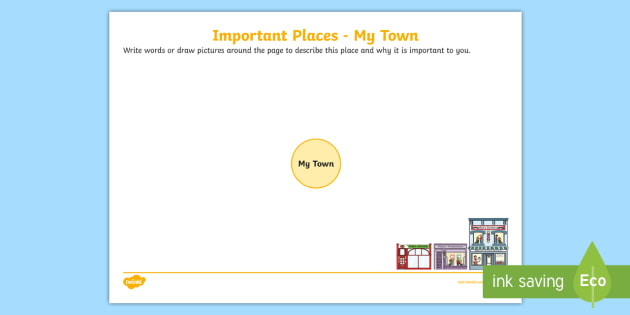 Important Places My Town Worksheet Activity Sheet