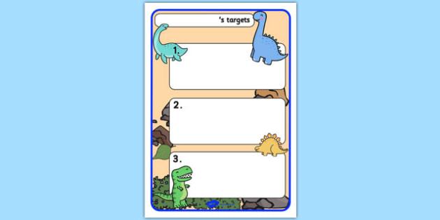 Themed Target Sheets Dinosaurs - Target Sheets, Themed Target Sheets, Dinosaur Target Sheets, Dinosaur Themed, Dinosaur Themed Target Sheets