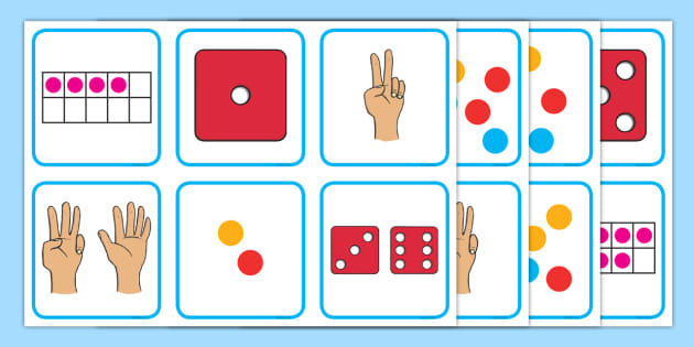 Subitising Numbers to 10 Matching Cards