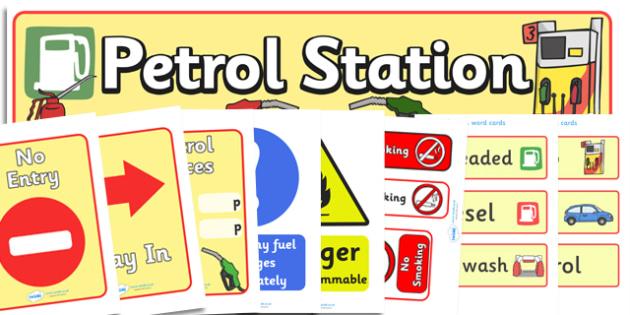 Petrol Station Role Play Pack - petrol station, role play, play, pack, cars, cars, oil, pump, petrol, air pump, unleaded, diesel, car wash, flowers, snacks, newspapers