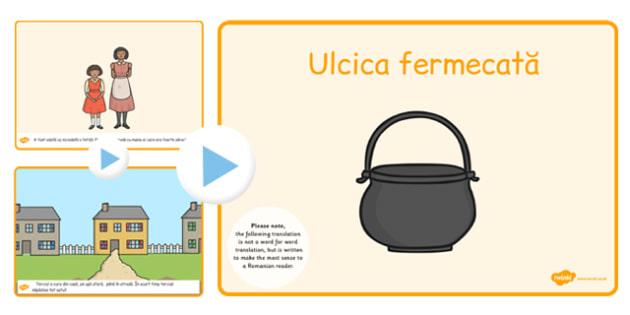 Ulcica fermecata, powerpoint, lectura, rezumat cu imagini , Romanian