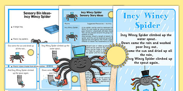 Incy Wincy Spider Sensory Resource Pack - Sensory nursery rhymes, early years, autism, early years sensory, sensory story