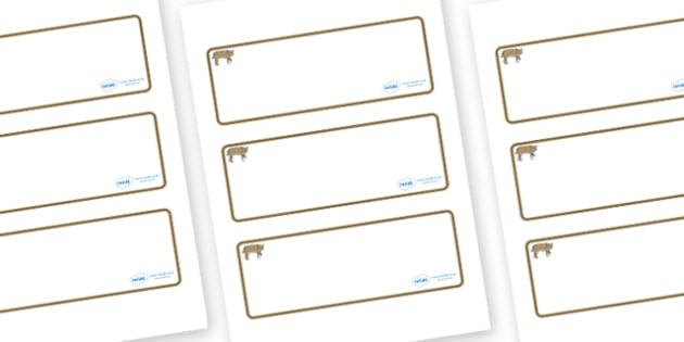 Bobcat Themed Editable Drawer-Peg-Name Labels (Blank) - Themed Classroom Label Templates, Resource Labels, Name Labels, Editable Labels, Drawer Labels, Coat Peg Labels, Peg Label, KS1 Labels, Foundation Labels, Foundation Stage Labels, Teaching Label