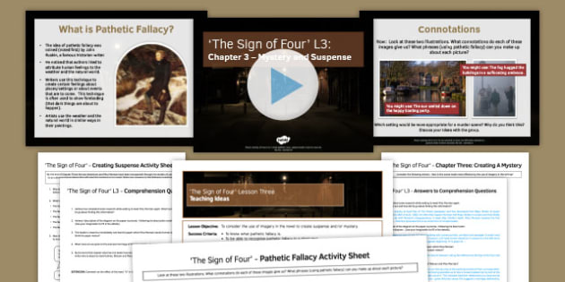 The Sign of Four L3 Pack - The Sign of Four, Prose, GCSE English Literature, Arthur Conan Doyle, Sherlock Holmes, AQA syllabus, Literary Heritage Text, Reading, 19th Century Fiction, characters