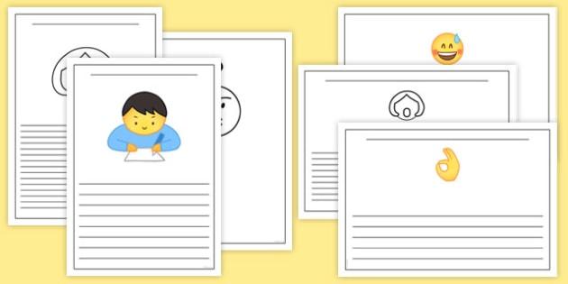 Emojis Writing Frames - , moji