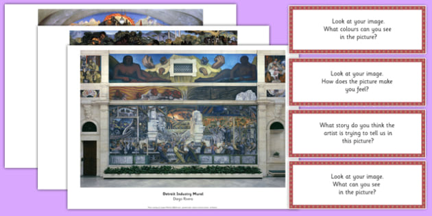 Diego Rivera Photopack and Prompt Questions - diego rivera, photopack, prompt, questions
