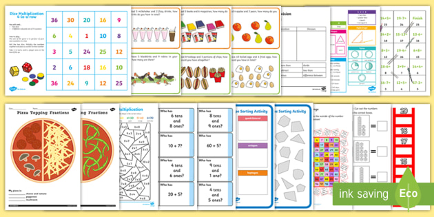 CfE First Level Maths Revision Activity Pack - numeracy, back to school, Revise, addition, subtraction, multiplication, division,Scottish
