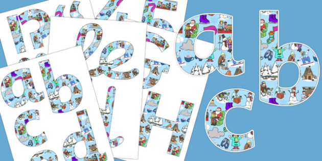 Winter Themed Display Letters and Numbers Pack - winter, display, lettering